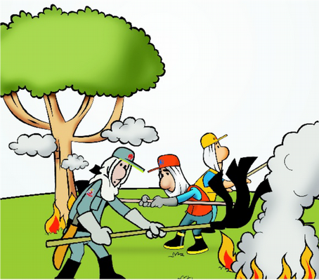Evite qualquer tipo de queimada