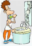 Feche a torneira enquanto escova os dentes